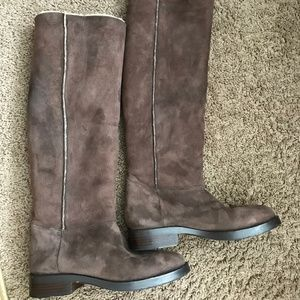 Coach Women's Suede Leather Tall Boots